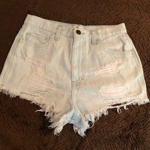 Juniors Hollister Jean Shorts